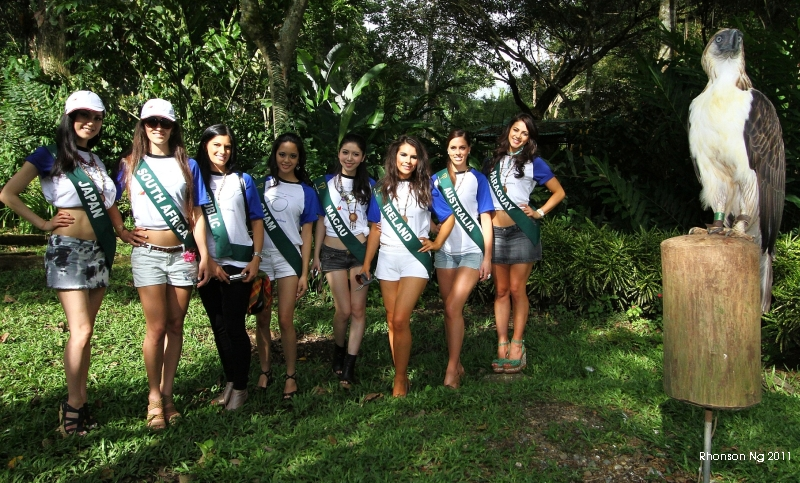 Miss Earth candidates in Phil Eagle Foundation by Rhonson Ng