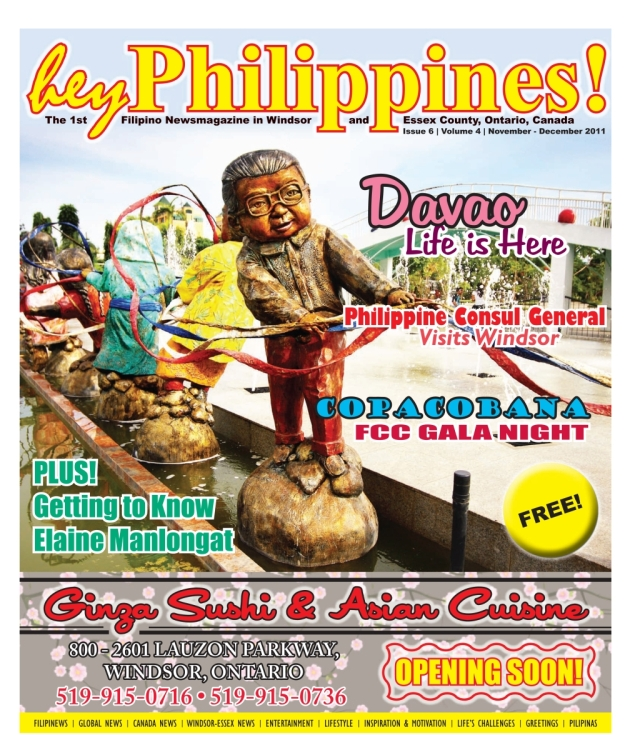 Jojie Alcantara's cover photo in Hey Magazine, Canada