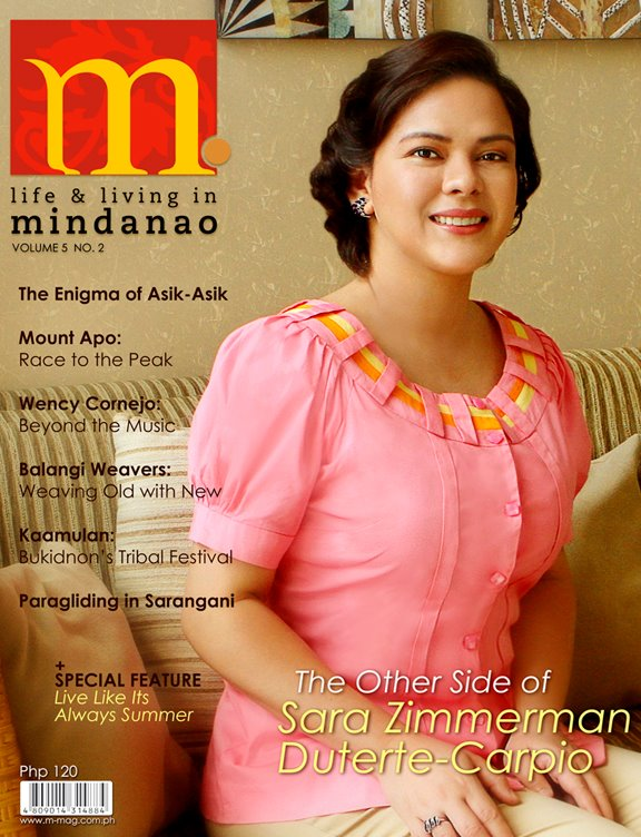 M Magazine cover of Mayor Inday Sara by Jojie Alcantara