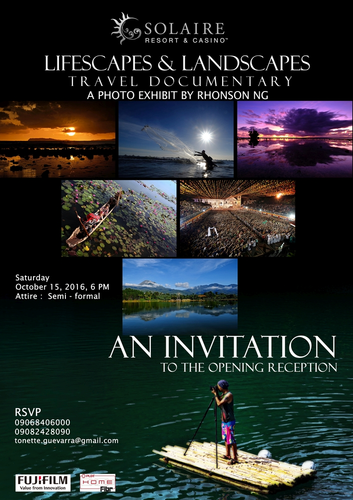 Lifescapes and Landscapes Travel Documentary Photo Exhibit by Rhonson Ng in Solaire Resort and Casino