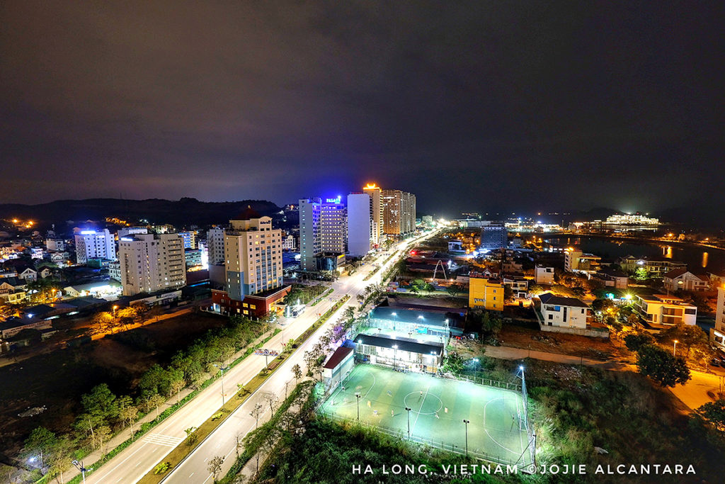 View of downtown from my hotel window at night © Jojie Alcantara