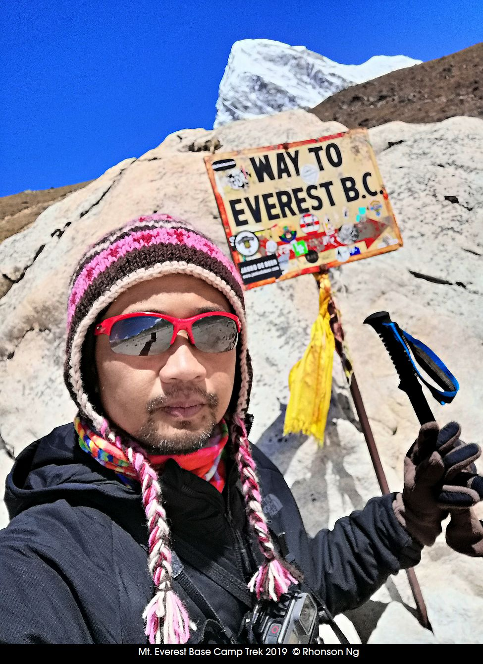 Rhonson on his way to Everest Base Camp