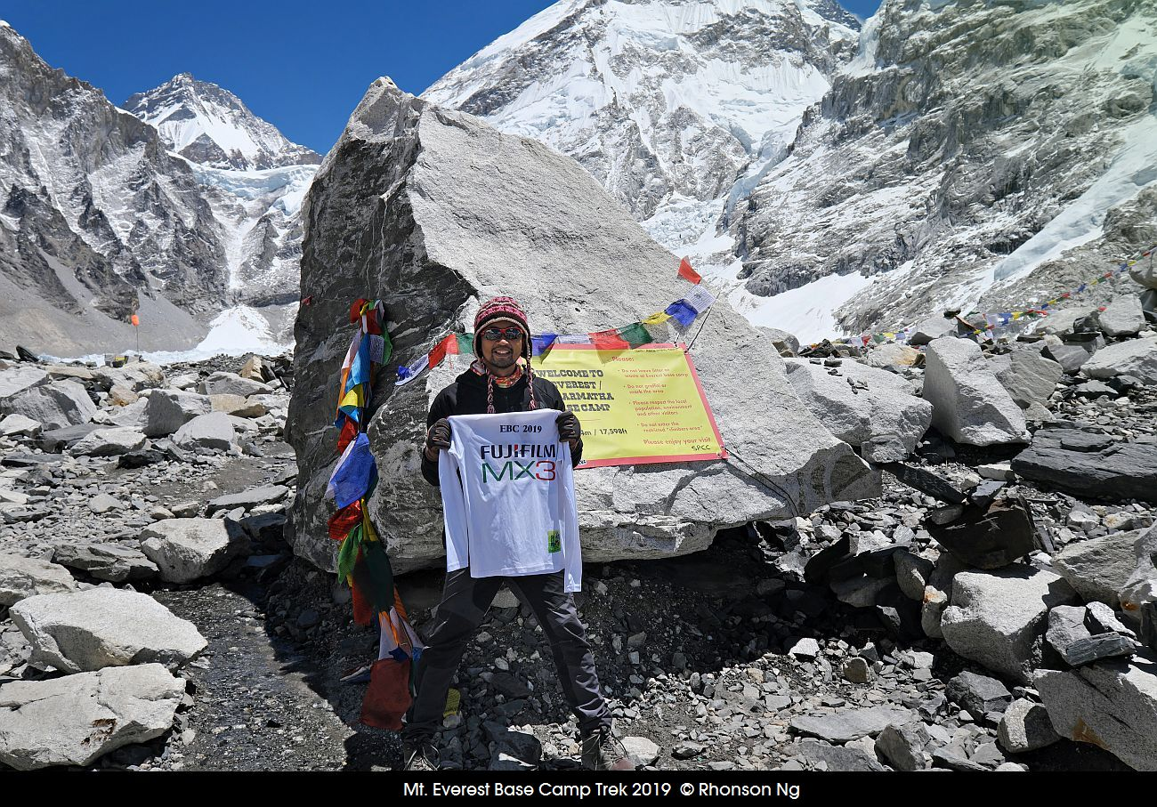 Rhonson reaches Everest Base Camp at 17600 feet